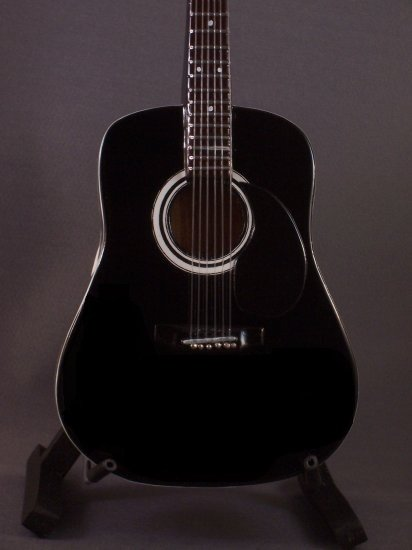 JOHNNY CASH Mini Guitar BLACK ACOUSTIC Collectible Gift