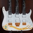 STEVE VAI Mini Famous Triple Neck WHITE Guitar Memorabilia Collectible Gift
