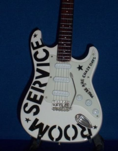 BRYAN ADAMS Miniature ROOM SERVICE Guitar Memorabilia Collectible Gift