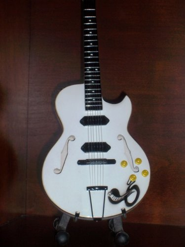 GEORGE THOROGOOD Mini WHITE SNAKE Memorabilia Guitar Collectible Gift
