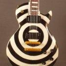 ZAKK WYLDE BLACK LABEL SOCIETY Mini Guitar BLACK AND WHITE BULLSEYE Memorabilia Collectible Gift
