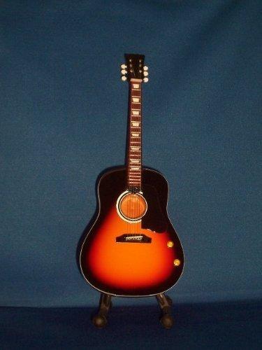 BEATLES JOHN LENNON Miniature Acoustic Guitar SUNBURST MODEL Collectible Gift