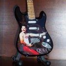 QUEEN FREDDIE MERCURY Mini BLACK Guitar TRIBUTE Memorabilia Collectible Gift