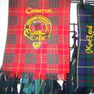 SCOTTISH CLAN CREST YOUR CHOICE EMBROIDERED ON TARTAN