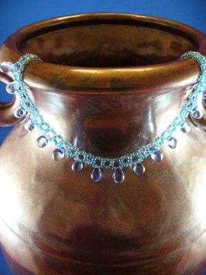 Boxed Teardrop Necklace