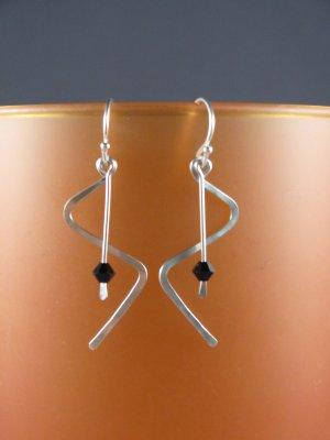 Sterling Zig-Zag Dangle Earrings