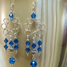 Small Flower Chandelier Earrings