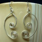 Crescent Swirl Earrings