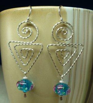 Sterling Twisted Dangle Earrings