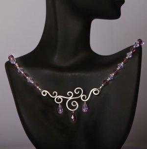 Swarovski Scroll Necklace