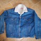 vintage levi's sherpa jean jacket size XLarge USA made