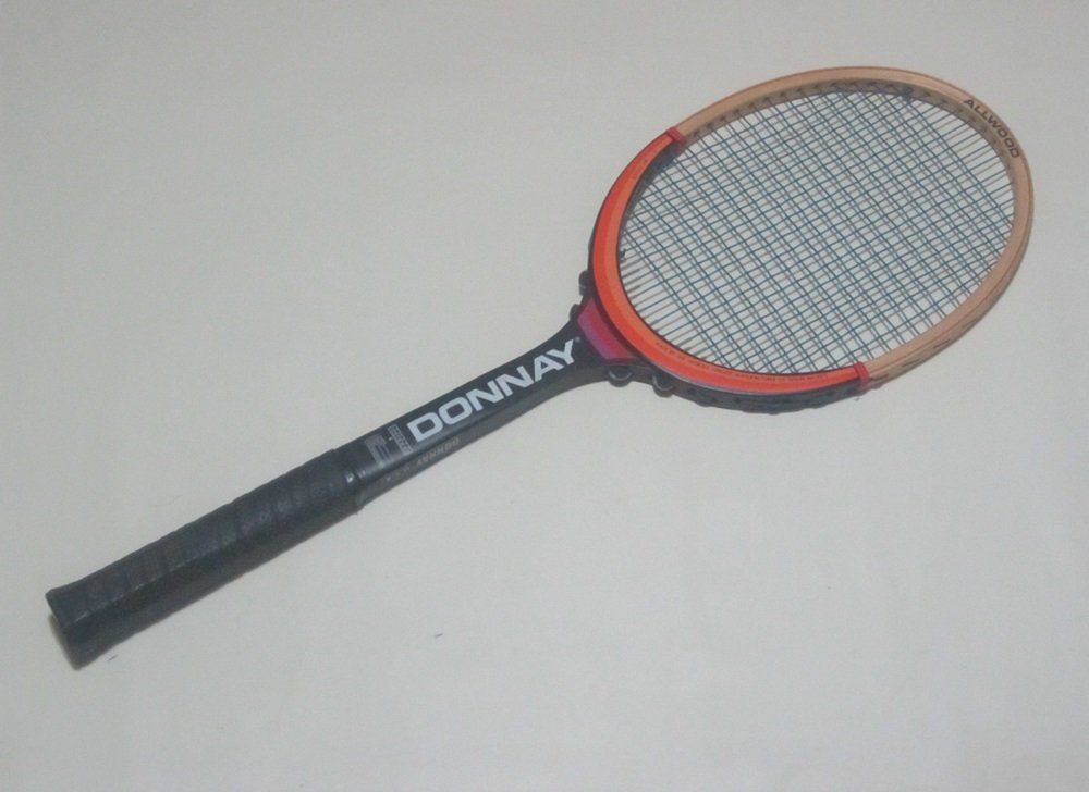 "Donnay  All Wood   Vintage Tennis Raquet 4"" grip (DOW02A)"