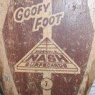 RARE 1960's GOOFY FOOT 7 Nash Sidewalk Surfboard Wood Skateboard