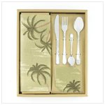 12 Pc Palm Tree Table Top Set