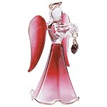 Glass Angel With January Birthstone