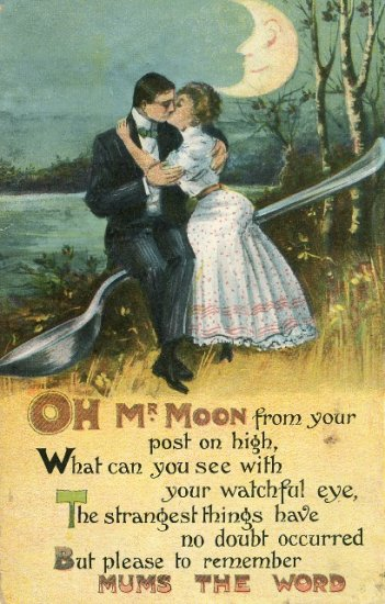 1909 Romance Oh Mr Moon B B London Series No E 240 Printed in Germany