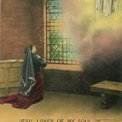 1910 Bamforth Hymn Series Postcard Jesu Lover of My Soul Series 4506 No. 2