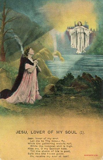 1910 Bamforth Jesu My Savior Hymn Postcard