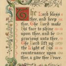 Vintage Christmas Postcard Numbers 6:24 Illuminated gilded Gothic Lettters