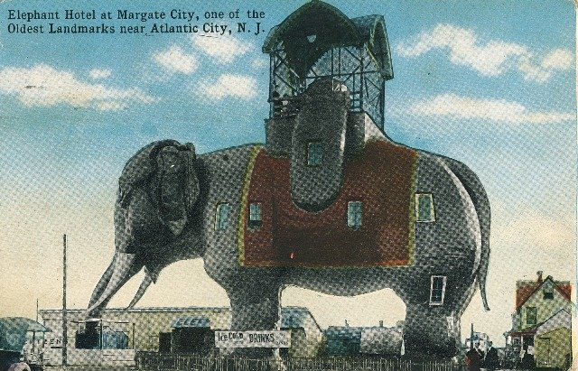 1918 Atlantic City New Jersey Margate Lucy the Elephant Hotel