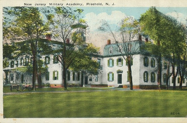 1924 Vintage Postcard New Jersey Military Academy Freehold NJ Early Linen