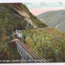 NH Willey Brook Bridge Crawford Notch Vintage Postcard White Mountains