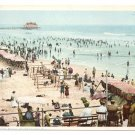 1908 Bathing Beach Atlantic City NJ Vintage postcard