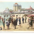 Bathers on the Beach Atlantic City NJ Vintage postcard