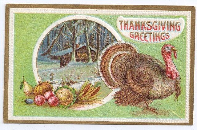 Vintage Thanksgiving Postcard turkey 1912