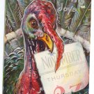 Digesting the Calendar Vintage Thanksgiving Postcard turkey 1910