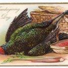 RJ Wealthy Vintage Thanksgiving Postcard Embossed Turkey Tuck