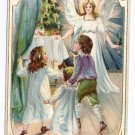 Tuck Angel Children Christmas Tree Vintage Christmas Postcard 1907