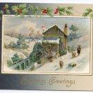 Winsch Mill Scene Vintage Christmas Postcard