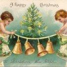 Children Bells 1906 Embossed Vintage Christmas Postcard IAP UND