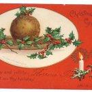 Clapsaddle Plum Pudding 1907 UND Vintage Christmas Postcard
