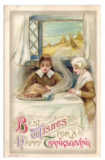 Schmucker Winsch Vintage Thanksgiving Postcard 1910