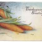 Ears of Corn Vintage Thanksgiving Postcard 1917