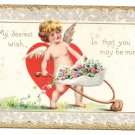 Tuck Valentine Postcard Cupid Cherub Wheelbarrow