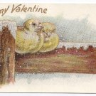 Valentine Lounsbury Birds Embossed GoldUND Vintage Postcard