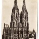 Koln Cathedral Germany West Front RPPC