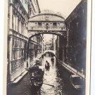 RPPC Venice Canal Gondola Ponte del Sospiri Italy Vintage Postcard