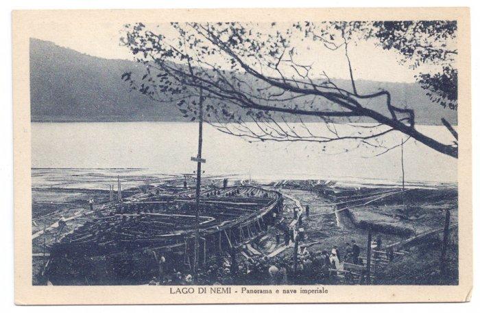 Lago di Nemi Archaeology Ancient Imperial Roman Ship
