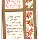 Arts and Crafts Style Vintage Christmas Postcard