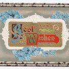 Best Wishes Embossed gilt Vintage Postcard P. Sander