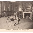 Marblehead MA Lee Mansion Banquet Room Vintage Postcard