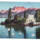 Ile des Mouettes Switzerland Vintage Postcard 1910