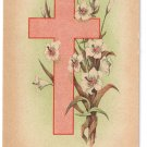 Cross Lilies Vintage Easter Postcard