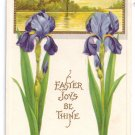 Iris Embossed Vintage Easter Postcard Stecher 1914
