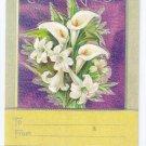 Lilies Embossed Silver Gilt Vintage Easter Postcard