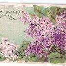 Lilacs Embossed Glitter UND Vintage Easter Postcard 1906